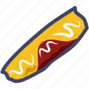 egg, egg roll, fried, meal, omelet, omelette, roll icon