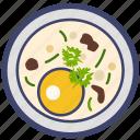 baked, egg, egg soup, food, meal, soup, steamed egg icon