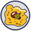egg, food, fried, meal, omelet, scrambled, scrambled eggs icon