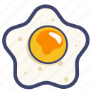 breakfast, chicken, egg, fried, fried egg, meal icon