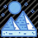 egypt, egyptian, landmark, pyramid icon