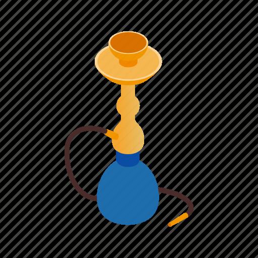 east, egypt, hookah, isometric, pipe, smoke, tobacco icon