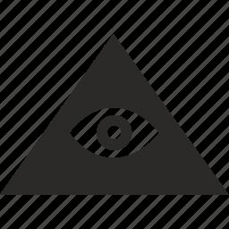 egypt, eye, god, pyramid, see, watchful icon
