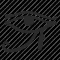 egypt, eye, god, national, ornament icon
