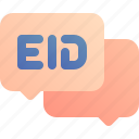 chat, congratulation, eid, greeting icon