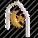crescent, star, islamic, eid, mubarak, arc, moon