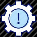 help, notice, settings, warning