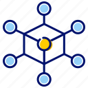 connection, hub, network, node, nodes icon