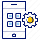 app, application manager, essential, menu, mobile phone icon