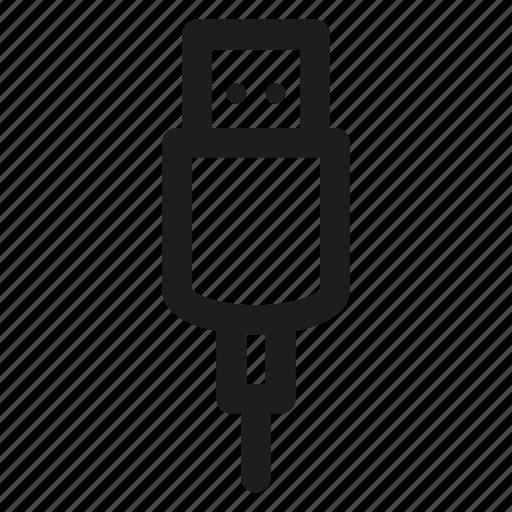 cable, device, gadget, plug, usb icon