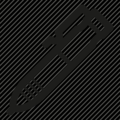 pen, pencil, tactical icon