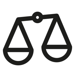 compare, law, libra icon