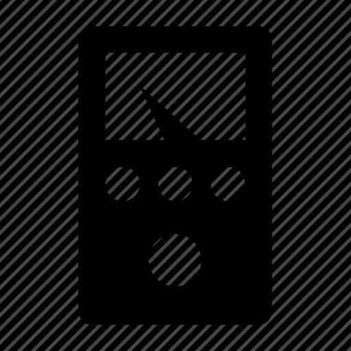 detector, metal, multimeter, voltmeter icon