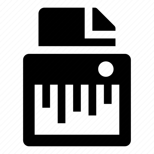 paper, shredder icon