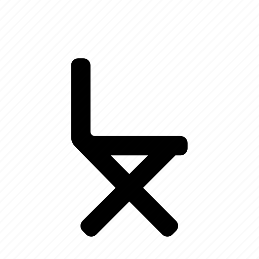 chair, director, folding icon