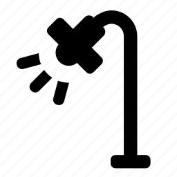 floor, lamp icon