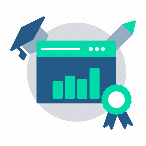 Analysis, chart, education, elearning, online report, result, statistics icon - Download on Iconfinder