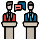 debate, election, politics, discussion, argument icon