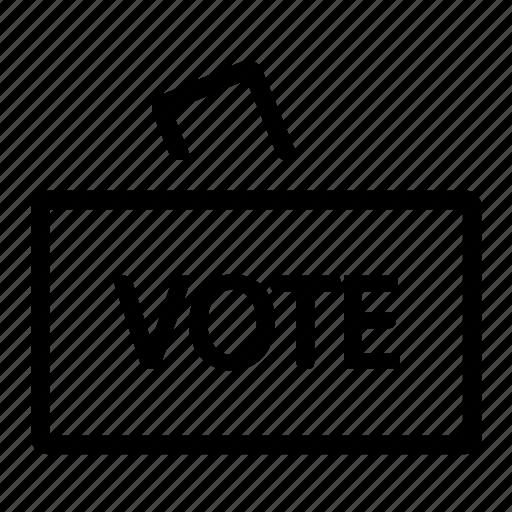 board, box, document, election, file, office icon