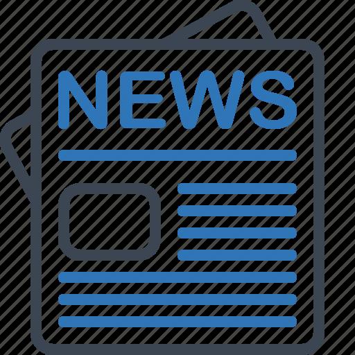 blog, news, newspaper, press icon