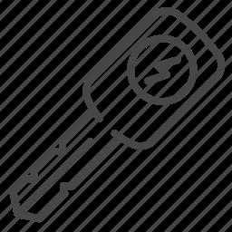 automobile, car, eco car, electric car, key, lock, starter icon