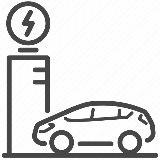 Automobile, car, charging station, electric, electric car, energy, power station icon - Download on Iconfinder