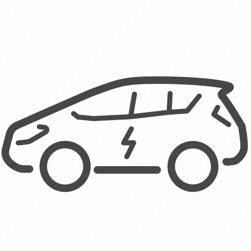automobile, car, clean energy, electric car, vehicle icon