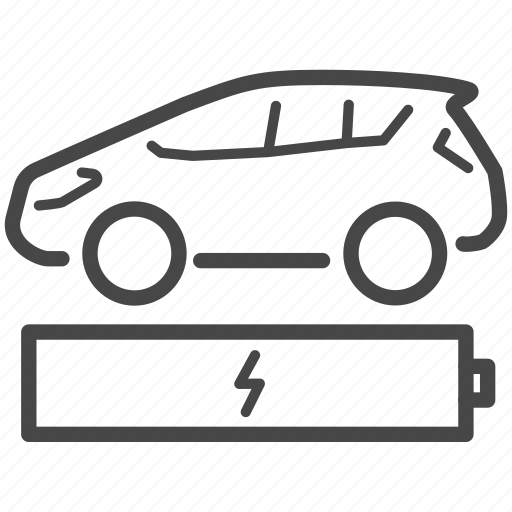 automobile, battery, car, charge, charging, electric, electric car icon