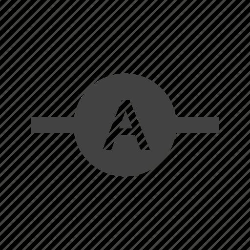 ammeter, ampere, electrician, electricity, meter, voltage, voltmeter icon