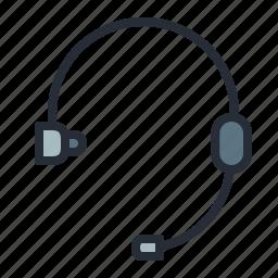 callcenter, earbuds, earphones, handsfree, headphone, headset, music icon