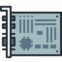 card, component, device, hardware, motherboard, parts icon