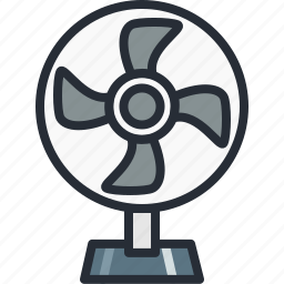 coldness, cooler, cooling, device, electric, fan, table icon