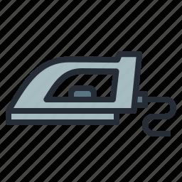 appliances, cloth, cloths, electric, iron, laundry, press icon