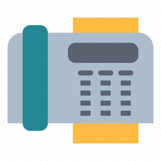 communications, fax, material, office, telephone icon