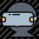 digital, gaming, glasses, reality, virtual, vr icon