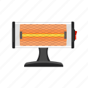 appliance, comfort, heater, quartz, stand, technology, winter icon