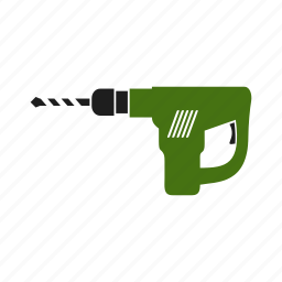 drill, electric, equipment, perforator, tool, work, worker icon