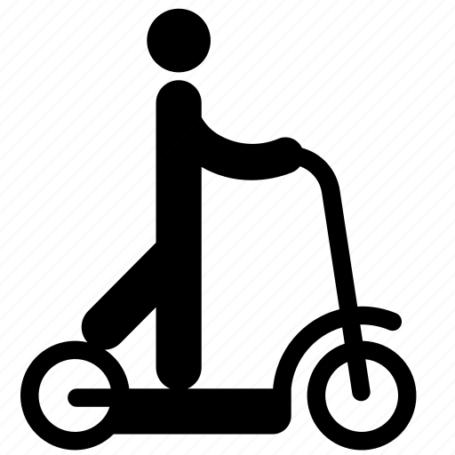 electric, electric scooter, electricity, kick scooter, riding, scooter icon