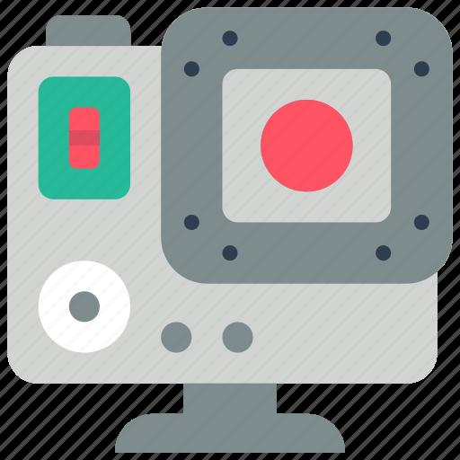 cam, camera, devices, go, pro, video icon