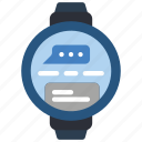 devices, message, smart, watch icon