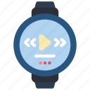 devices, mp3, smart, watch icon