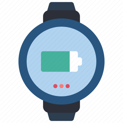 charge, devices, smart, watch icon