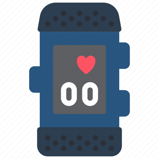 devices, fitness, heart, tracker, watch icon