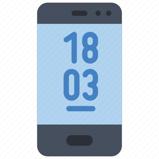 devices, phone, smart, time icon