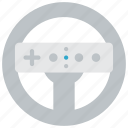devices, nintendo, steering, wheel, wii icon