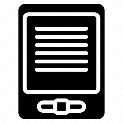 devices, e, reader, solid icon