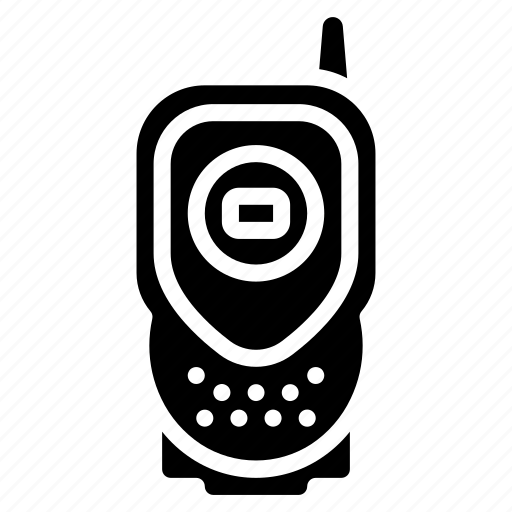 devices, radio, solid, walkie talkie icon