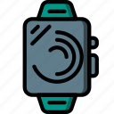 devices, smart, time, ultra, watch icon