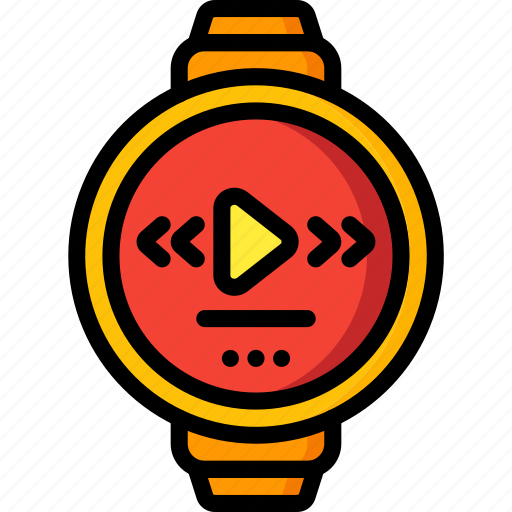 devices, mp3, smart, ultra, watch icon