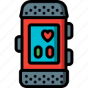 devices, fitness, heart, tracker, ultra, watch icon